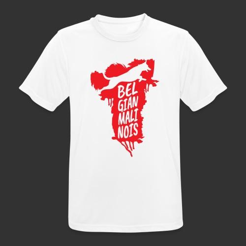 Belgian Malinois JUMP - miesten tekninen t-paita
