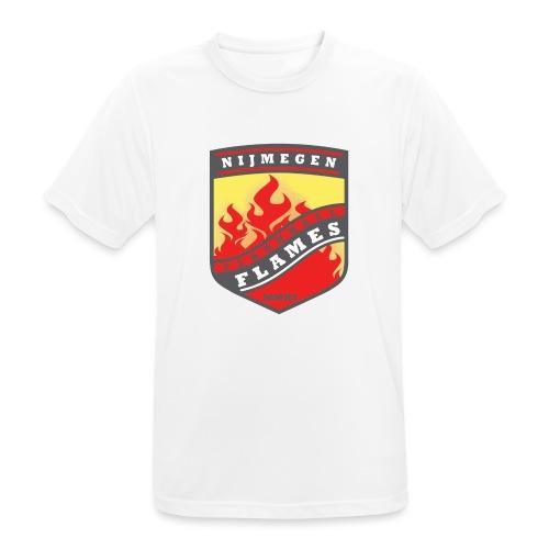 snapback pet rood/zwart combi - Mannen T-shirt ademend