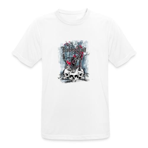 rock n roll skulls - Mannen T-shirt ademend actief