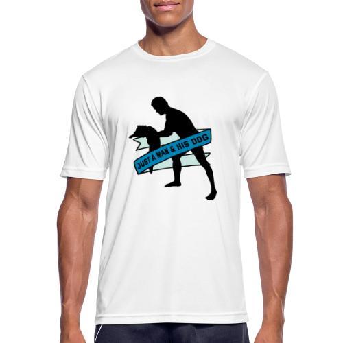 A Man & His Dog - Herrchen Hund Geschenkidee - Männer T-Shirt atmungsaktiv