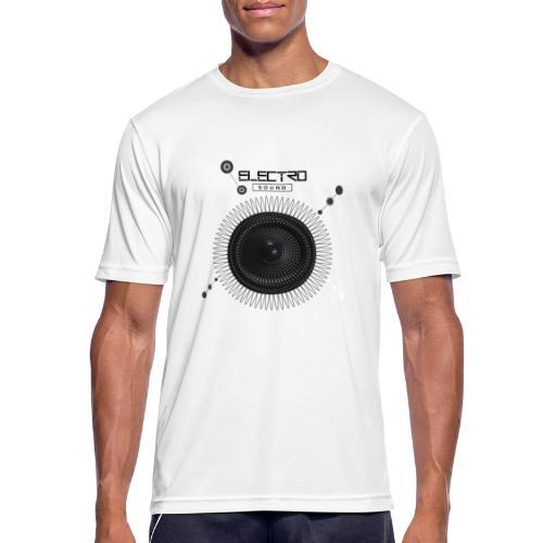 Electro Sound - Maglietta da uomo traspirante