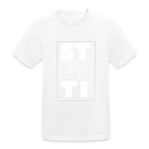 Steeti - White on black - white edition - Andningsaktiv T-shirt herr