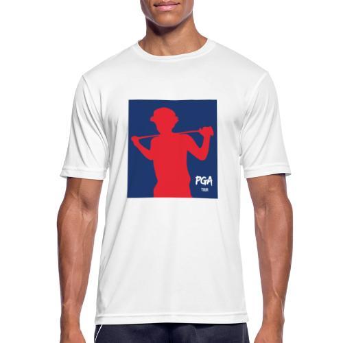 pga newbie blue - miesten tekninen t-paita