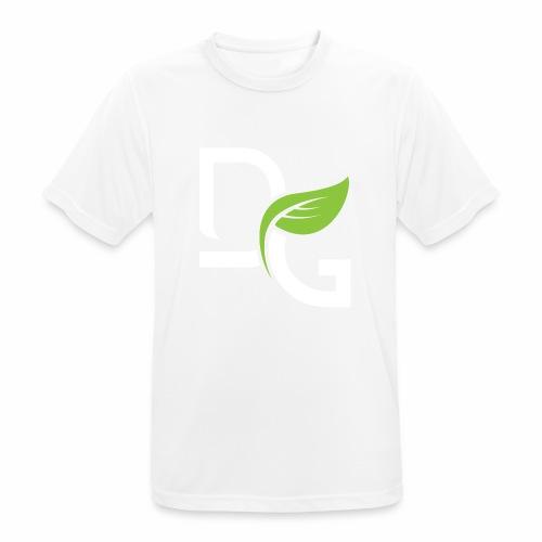 DrGreen Logo Symbol weiss grün - Männer T-Shirt atmungsaktiv