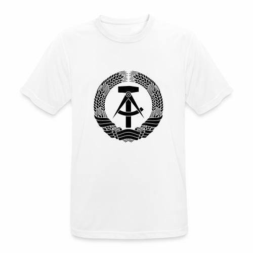 DDR Wappen (schwarz) - Men's Breathable T-Shirt