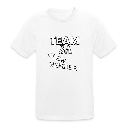 Team SA Crew Member Vit - Andningsaktiv T-shirt herr