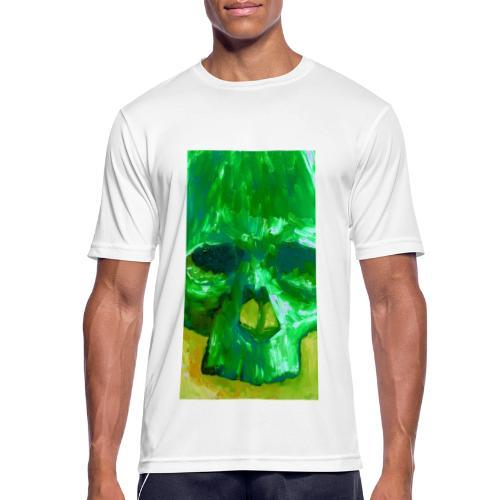 Green Skull - Mannen T-shirt ademend actief