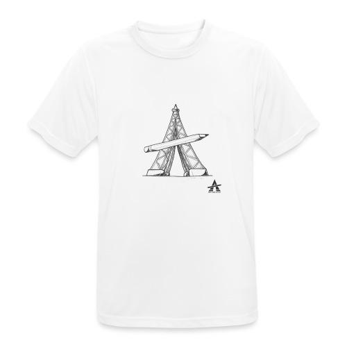 Tour Eiffel Crayon - T-shirt respirant Homme