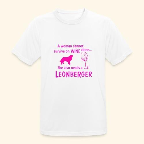 Wine&Leonberger - Andningsaktiv T-shirt herr