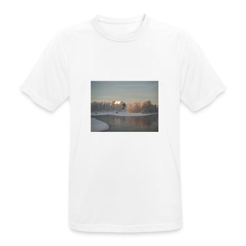 Talvinen Joensuu - miesten tekninen t-paita