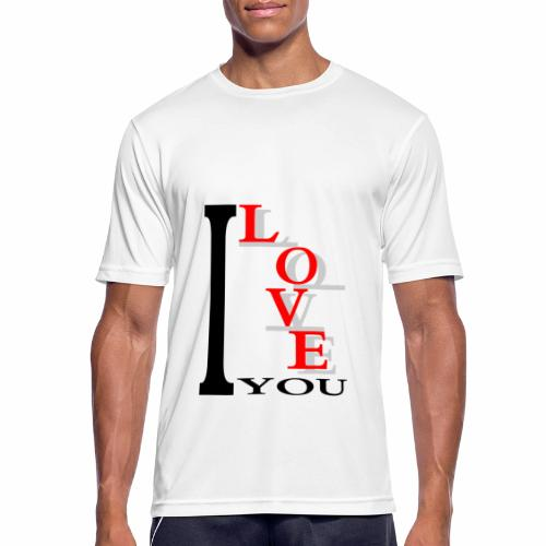I love you - Men's Breathable T-Shirt
