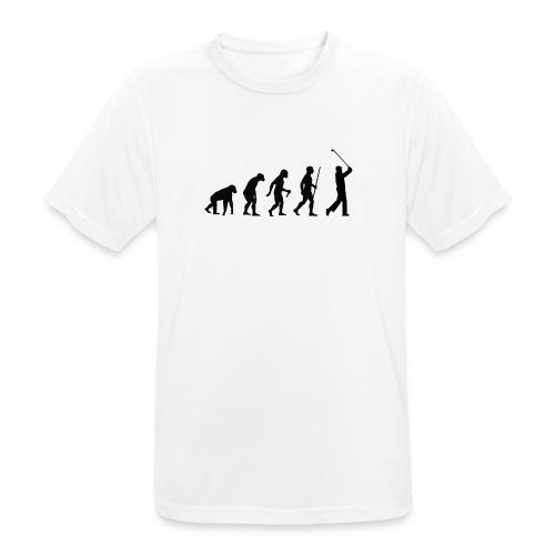 Evolution of Man Golf - Herre T-shirt svedtransporterende