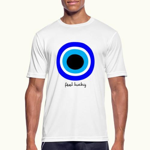 luck eye - Mannen T-shirt ademend actief