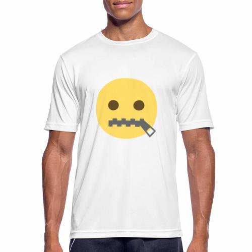 emoji bocca chiusa - Maglietta da uomo traspirante