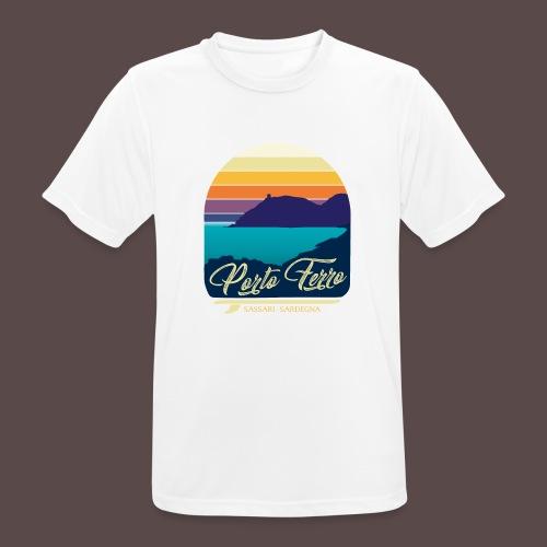 Porto Ferro - Vintage travel sunset - Maglietta da uomo traspirante