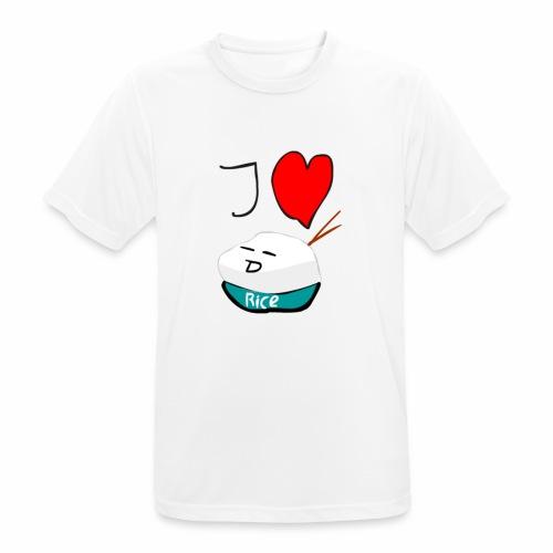 I Love Rice T-Shirt - mannen T-shirt ademend