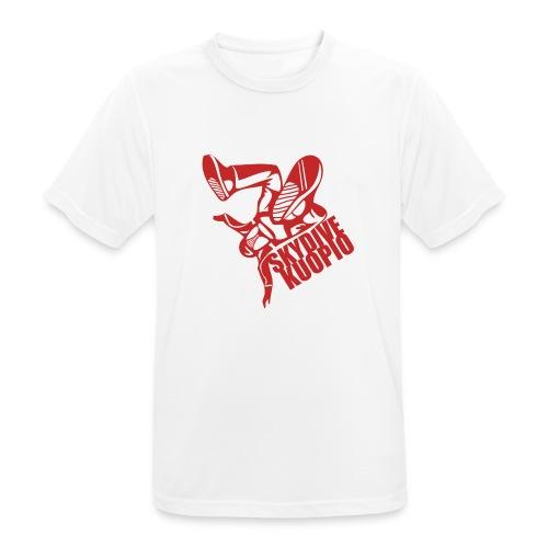 KLU logo red - miesten tekninen t-paita