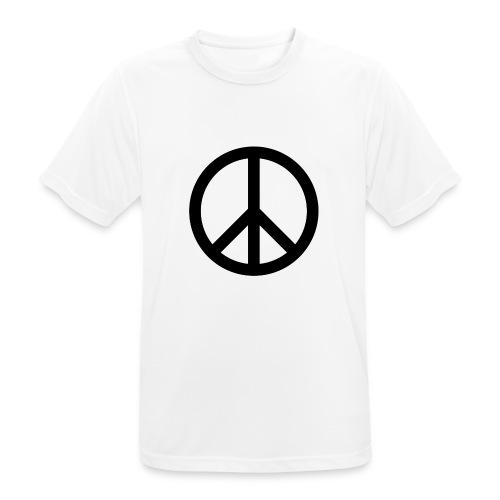 Peace Teken - Mannen T-shirt ademend actief