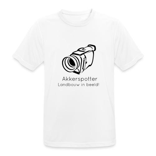 Logo akkerspotter - mannen T-shirt ademend