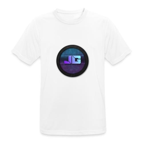 Pet met Logo - Mannen T-shirt ademend actief