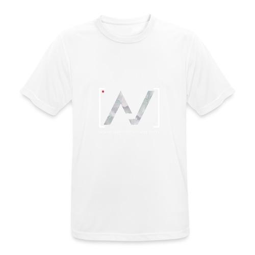 logoalpha blanc - T-shirt respirant Homme