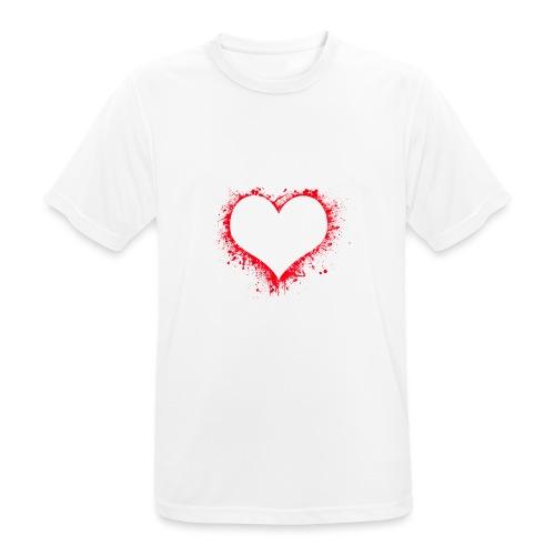 heart 2402086 - Maglietta da uomo traspirante