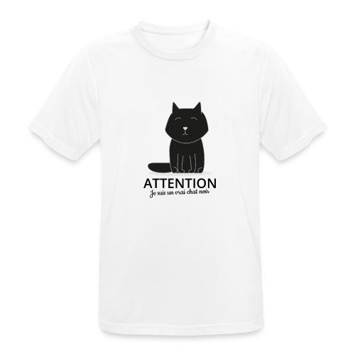 Chat noir - T-shirt respirant Homme
