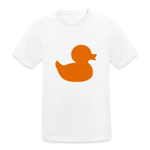 Orange duck tee - Men's Breathable T-Shirt