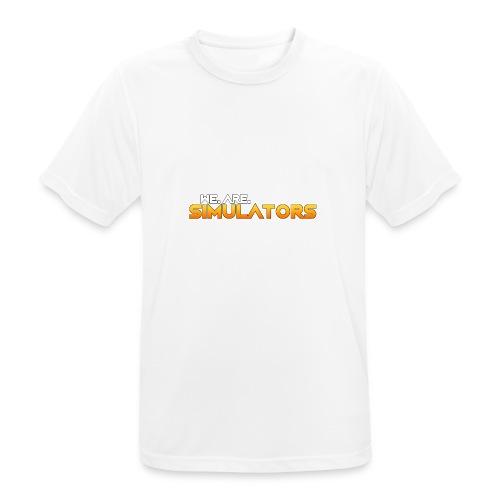 we are simulators tshirt logo - Men's Breathable T-Shirt