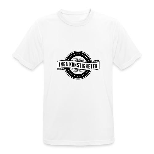 Inga Konstigheters klassiska logga (ljus) - Andningsaktiv T-shirt herr