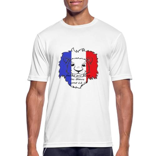 Lion supporter France - T-shirt respirant Homme