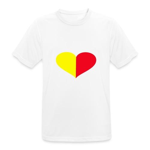 cuore giallorosso pieno - Maglietta da uomo traspirante