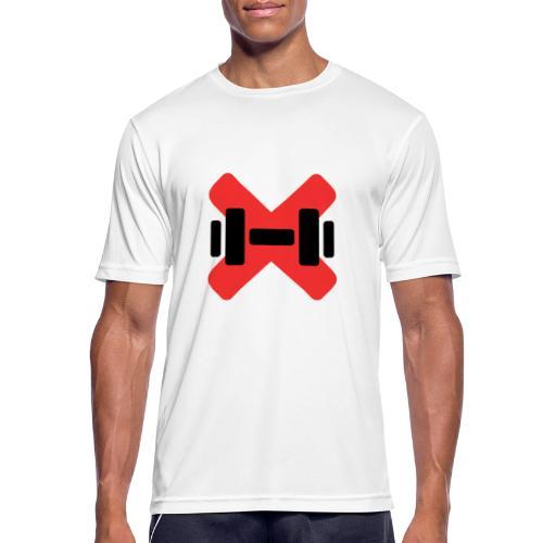 Gymtech endast logo - Andningsaktiv T-shirt herr