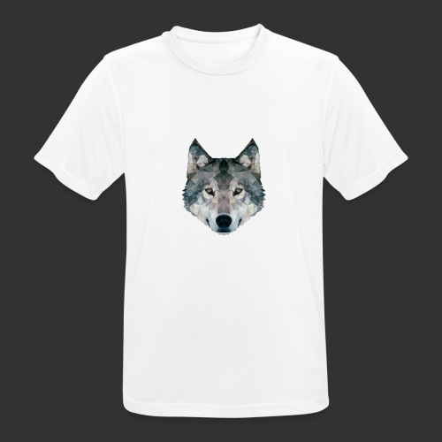 Loup LowPoly - T-shirt respirant Homme