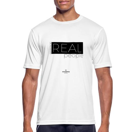 Real in black - Men's Breathable T-Shirt