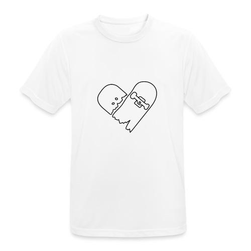 Broken Skateboard - Men's Breathable T-Shirt
