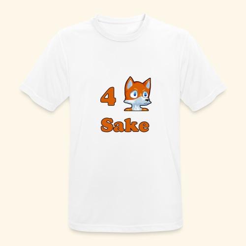 4 Fox Sake - Andningsaktiv T-shirt herr