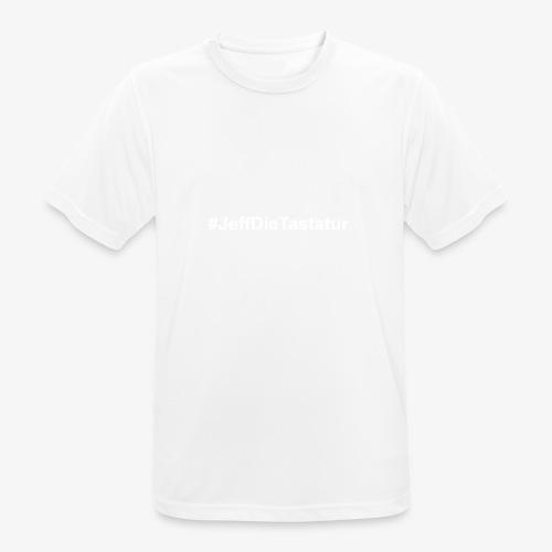 hashtag jeffdietastatur weiss - Männer T-Shirt atmungsaktiv