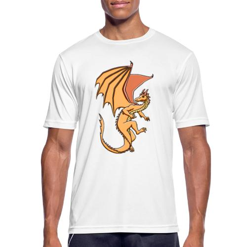 Drache, orange - Männer T-Shirt atmungsaktiv