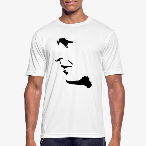 palme svart - Andningsaktiv T-shirt herr
