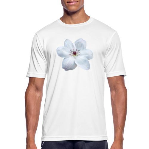 Jalokärhö, valkoinen - miesten tekninen t-paita