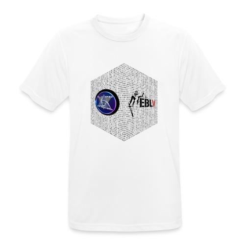 disen o dos canales cubo binario logos delante - Men's Breathable T-Shirt