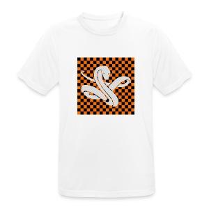 Wavy snake - mannen T-shirt ademend