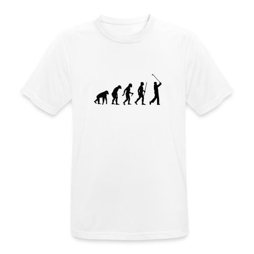 Evolution of Man Golf - Herre T-shirt svedtransporterende