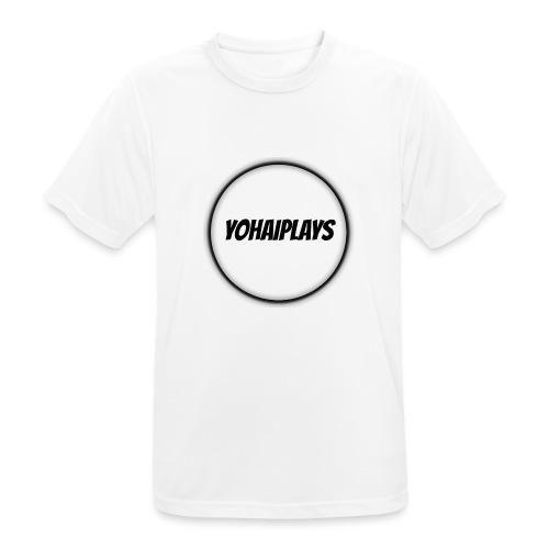 Sirkel logo - Pustende T-skjorte for menn
