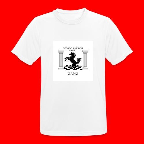 Pferde Auf Der Brust Gang - Männer T-Shirt atmungsaktiv