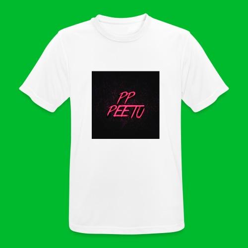 Ppppeetu logo - miesten tekninen t-paita