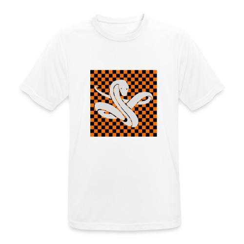 Wavy snake - Mannen T-shirt ademend actief