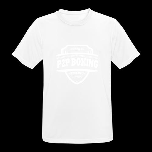P2P Boxing White Logo - Men's Breathable T-Shirt