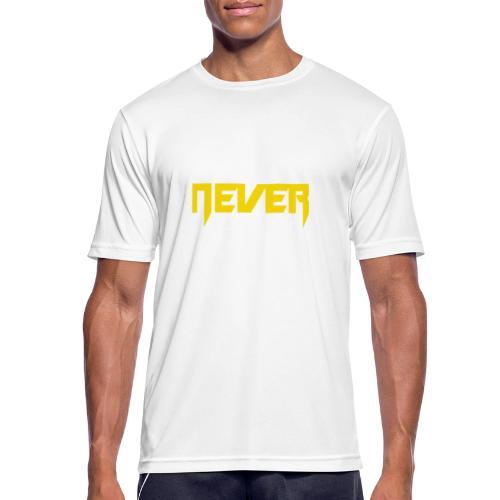 Never give up - Männer T-Shirt atmungsaktiv